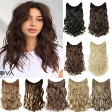 THICK Hidden Halo Hair Extensions One Piece Secret Wire as Human Long Hairpiece