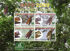 Papua New Guinea 2009 MNH Bats 4v M/S Wild Animals Conservation International