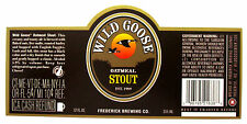 Frederick Brewing Co Wild Goose Oatmeal Stout beer label Md 12oz