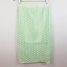 SPORTSGIRL   Womens Pale green Crochet Pencil Skirt [ Size S or AU 10 / US 6 ]