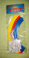 24 pieces*Cupcake Wrap Pack with Picks*Ringling Bros*Horses*Carnival