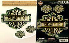 Harley-Davidson logo *GREEN CAMOFLAGE* 3-set Stickers Indoor-Outdoor