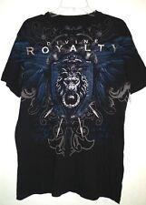 XZAVIER tee shirt DIVINE ROYALTY.  Men's  Large. Black, Blue, White & Silver.