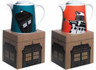 Doctor Who Tardis Dalek Design Boxed Teapot Orange Blue BBC Worldwide Teapots