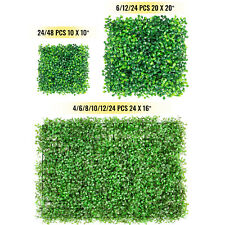 Artificial Boxwood Wall Hedge Mat Plant Panel Indoor Outdoor Grass Fence w/ Ties