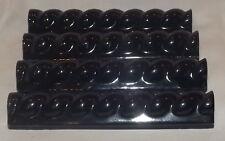 Tile 1 1/4 x 6 Rope liners  trim edge pieces lot of 26 deep blue