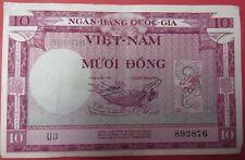 Vintage Pre-1960 Vietnam 10 Dong Banknote-Estate Sale