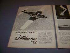 VINTAGE..AERO COMMANDER 112....HISTORY/PHOTOS/DETAILS..RARE! (302N)