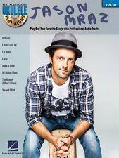 Jason Mraz Sheet Music Ukulele Play-Along Book and CD NEW 000124166