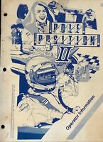Atari Pole Pole Position II Operators Information Manual 1st Printing CO-218-12