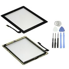 Black Front Glass Touch Screen Glass Digitizer + Home Button Assembly for iPad 3