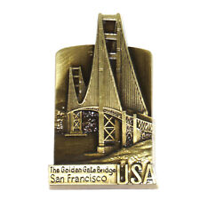 Golden Gate Bridge San Francisco Travel Souvenir 3D Metal Fridge Magnet Gift