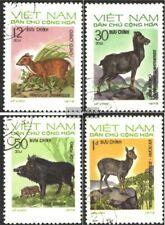 Vietnam 731-734 (kompl.Ausg.) gestempelt 1973 Einheimische Wildtiere