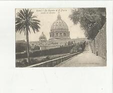88991 antica cartolina di roma la cupola di san pietro dai giardini