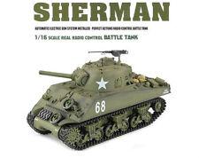 1:16 US M4A3 Sherman RC Battle Tank Airsoft Smoke & Sound 2.4GHz Remote Control