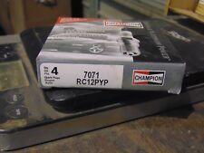 Champion Double Platinum Spark Plugs 4 Pk RC12PYP 7071  Shop Waz for Auto Parts