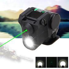 Compact Green Dot Laser Sight LED Flashlight Combo for Airsoft Handgun 20mm Rail