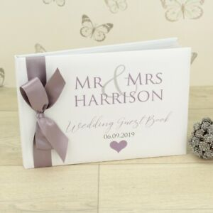 Personalised Mr & Mrs / Mr & Mr / Mrs & Mrs Wedding Guest Book