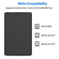 "5Gbps Fast USB 3.0 External SATA 2.5"" Hard Drive Enclosure HDD Box Case ToolFree"