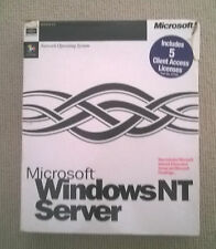 Microsoft Windows NT 4.0 Server RETAIL BOXED +5CAL Rare Network Operating System