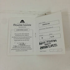 Maurice Lacroix warranty ref: 7289763-02