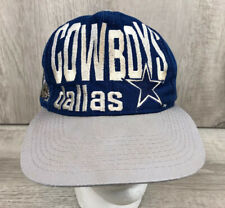 Dallas Cowboys Large Print Hat Vintagd Blue Grey Cap Logo 7 Snapback Adjustable