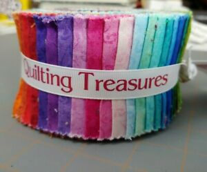 "Jelly Roll Quilting Treasures temptations Fabric 35 Strips 2.5"" X 43/44"""