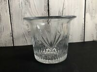 Vintage  HEAVY Crystal Glass Ice Bucket Wine/champagne  Bucket Cooler/Chiller. E