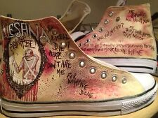 ALESANA HAND PAINTED HIGH TOPS CUSTOMISED TO ORDER
