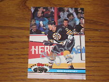 BOB SWEENEY AUTOGRAPHED 1991-1992 STADIUM CLUB CARD-BRUINS