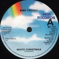 "BING CROSBY white christmas/god rest ye merry gentlemen BC111 uk mca 7"" WS EX/"