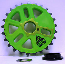 Bicycle BMX Bike Crank Chain Ring Sprocket Gear 25 Tooth Alloy Neon Green NEW