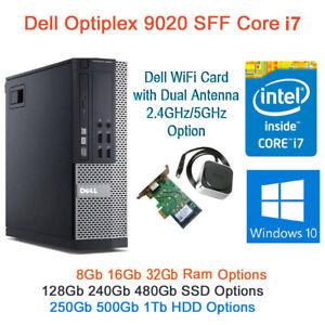 Dell Optiplex 9020 i7-4770 8GB 16GB 32Gb Ram 500 HDD 128Gb 240GB 480GB SSD Win10
