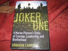 Joker One : A Marine Platoon's Story of Courage ...  HD DONOVAN CAMPBELL SIGNED