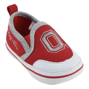 Baby Ohio St Buckeyes Crib Shoes Toddler Size 9-12 Months New