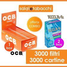 3000 Cartine Ocb Orange + 3000 Filtri Rizla Slim