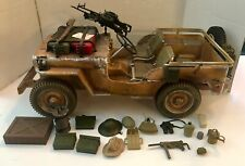 "Vintage Hasbro 12"" GI Joe WWII 1941 Willys Desert Patrol Jeep 1/6 Scale"
