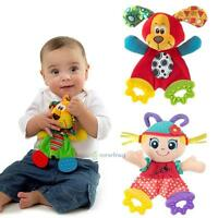 Baby Infant Development Soft Toy Teether Rattle Plush Owl Doll Sound Paper Toys