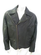 ARMANI COLLEZIONI Black Goatskin Motorcycle Jacket Tag Size 40
