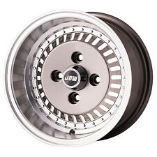 "6x12"" OS4 TURBO+Yokohama A539 tyres Classic (x4) Gunmetal Machined Lip"