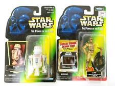 '97 Star Wars Power of the Force Action Figure Lot 2 C-3PO Cargo Net R5-D5 Droid
