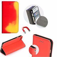 Etui THERMO BOOK Wärme empfindliche Schutz Case Cover Silikon HTC U11 Rot