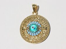 GOLD FILLED MURANO GLASS  LUCKY ITALIAN EVIL EYE PENDANT GREEK  NECKLACE GREECE