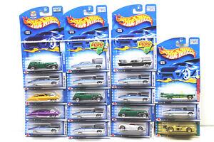 18 pc Hot Wheels Cadillac Diecast Car Lot LMP+Eldorado 2000 - 2003 Mattel NOC
