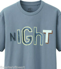 JACK PIERSON x UNIQLO 'NIGHT' SPRZ NY Art Word Sculpture T-Shirt SMALL Blue NWT!