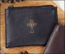 Rosary Case in Black Leather
