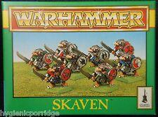 1993 caja plástica del armazón caos ratmen SKAVEN Citadel Warhammer clanrat Escudo MIB