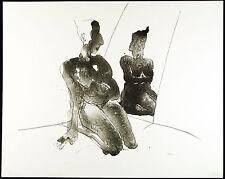 """DDR-arte. """"specchio"""", 1990. algraphie Gudrun trendafilov (* 1958 d), firmato a mano"""