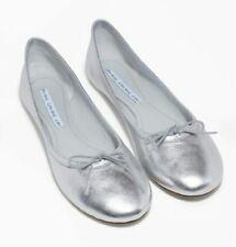 & OTHER STORIES femmes en cuir souple Argent Ballerines Chaussures Taille 39 UK 6 RRP £ 55