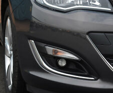 CHROME FOG LIGHT LAMP TRIM ACCENTS SURROUNDS COVERS FOR VAUXHALL ASTRA J 12+